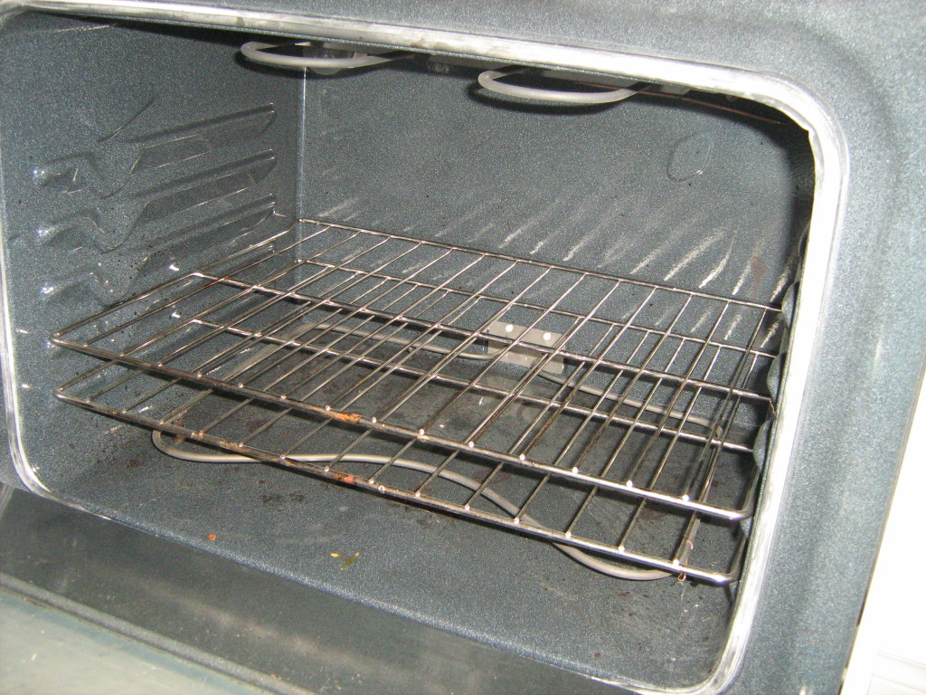 Inside of an oven showing bake element